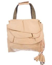 Marc Jacobs - Leather Ruffle Handle Bag Brown - Lyst