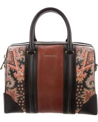 Givenchy - Paisley-printed Medium Lucrezia Satchel Brown - Lyst
