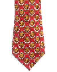 Chanel - Lion Print Silk Tie - Lyst
