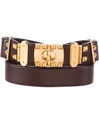 Miu Miu - Miu Gold-tone Buckle Leather Belt Gold - Lyst