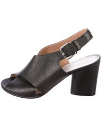 Maison Margiela - Leather Crossover Sandals - Lyst
