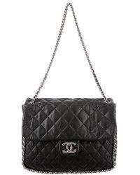 Chanel - Chain Around Maxi Flap Bag Black - Lyst