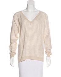 Banjo & Matilda - Striped V-neck Sweater Tan - Lyst