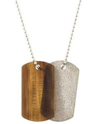 Brunello Cucinelli - Double Dog Tag Pendant Necklace Silver - Lyst
