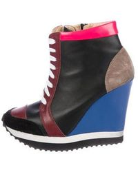 Ruthie Davis - Leather Sneaker Wedges - Lyst