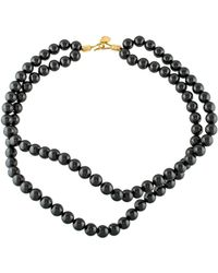 Stella McCartney - Faux Pearl Double Strand Necklace Gold - Lyst