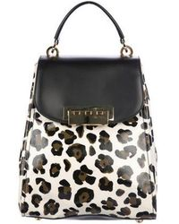 Zac Posen - Leather-trimmed Printed Backpack Multicolor - Lyst