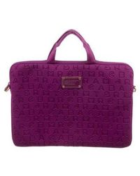 Marc Jacobs - By Dreamy Logo Commuter Laptop Bag Violet - Lyst