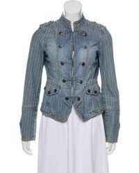 Karen Millen - Denim Military Jacket - Lyst