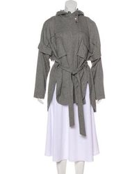 Marissa Webb - Hooded Dolman Coat Grey - Lyst