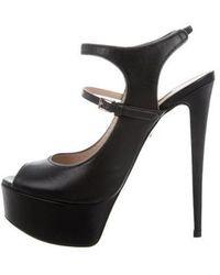 Ruthie Davis - Lebon Peep-toe Platforms Black - Lyst