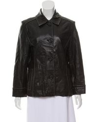 MICHAEL Michael Kors - Michael Kors Button-up Leather Jacket - Lyst