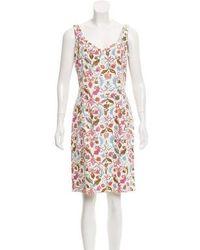 Piazza Sempione - Floral Print Knee-length Dress - Lyst