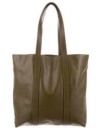 Mansur Gavriel - Leather Tote Olive - Lyst