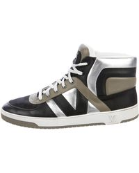 e6d419954cc Lyst - Louis Vuitton Damier High-top Sneakers in Black for Men
