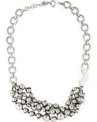 Dior - Mise En Statement Necklace Silver - Lyst