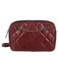 944fb66a7fe Lyst - Chanel Grey Quilted Suede Medium Diamond Camera Bag in Gray