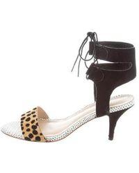 Loeffler Randall - Ponyhair Cheetah Print Sandals - Lyst
