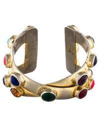 Chanel - Gripoix Cuff Gold - Lyst