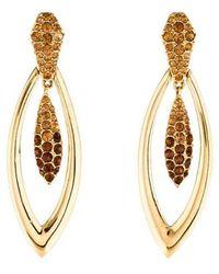 Judith Leiber - Crystal Drop Earrings Gold - Lyst