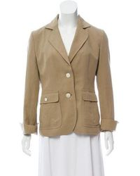 Loro Piana - Long Sleeve Notch-lapel Blazer Beige - Lyst