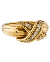 Tiffany & Co. - 18k Diamond Signature X Ring Yellow - Lyst