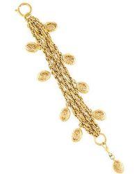 Chanel - Multistrand Charm Bracelet Gold - Lyst