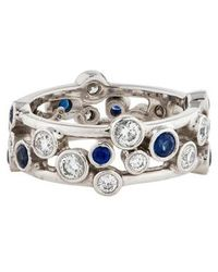 Tiffany & Co. - Platinum Diamond Sapphire Bubbles Ring - Lyst