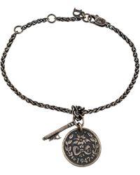 Dior - Coin & Key Charm Bracelet Silver - Lyst