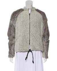 Sachin & Babi - Fur Trim Knit Jacket - Lyst