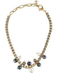 Lulu Frost - Faux Pearl Bead Necklace Gold - Lyst