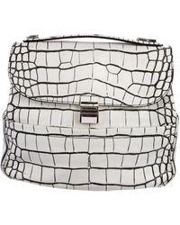 Proenza Schouler - Embossed Bi-color Kent Bag White - Lyst