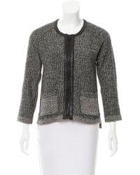 Rag & Bone - Leather-trimmed Knit Jacket - Lyst