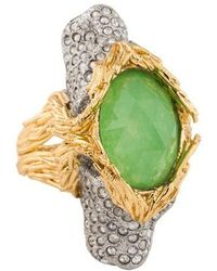Alexis Bittar - Dyed Quartzite Maldivian Two Headed Lion Ring Silver - Lyst