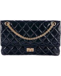 8e9b72845282 Lyst - Chanel Classic Medium Double Flap Bag Black in Metallic