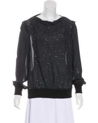 Band of Outsiders - Embellished Long Sleeve Top - Lyst
