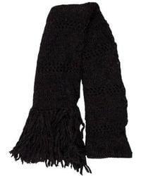 Étoile Isabel Marant - Open Knit Fringe-trimmed Scarf Navy - Lyst