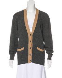 Aquascutum - Lambswool Button-up Cardigan Grey - Lyst