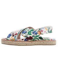 Alice + Olivia - Floral Slingback Sandals - Lyst