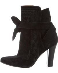 Ulla Johnson - Embroidered Ankle Boots - Lyst