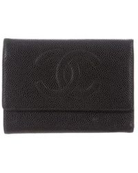 Chanel - Timeless Trifold Wallet Black - Lyst