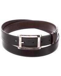 Cartier - Leather Buckle Belt Black - Lyst