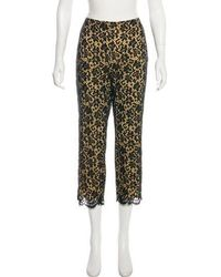 Moschino Jeans - Mid-rise Lace Pants Black - Lyst