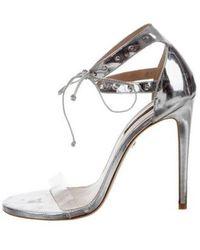 Ruthie Davis - Chloe Studded Sandals W/ Tags Silver - Lyst