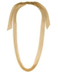 Tiffany & Co. - 18k Mesh Scarf Necklace Yellow - Lyst
