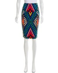 Mara Hoffman - Geometric Print Pencil Skirt W/ Tags - Lyst