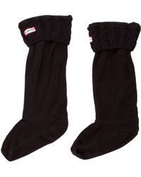 HUNTER - Cable Knit Welly Socks - Lyst