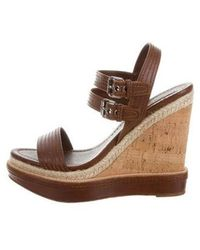 cf7ccf698a42 Lyst - Givenchy Leather Platform Wedges Tan in Metallic
