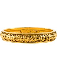 Chanel - Textured Bangle Gold - Lyst