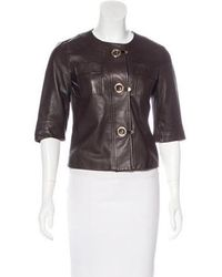 Michael Kors - Lightweight Leather Jacket - Lyst